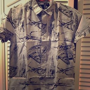 Other - Star Wars Grey Shirt Sleeve Button Down. New